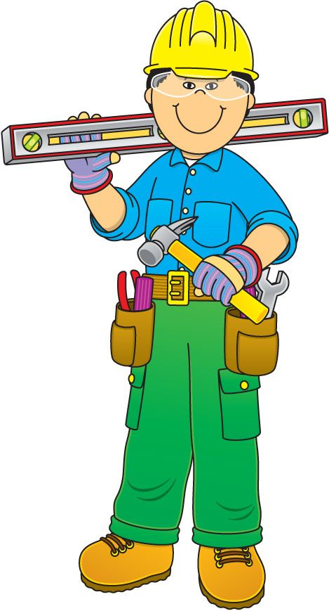Community Helper: Construction Worker u0026middot; Worker ClipartMétiers ...