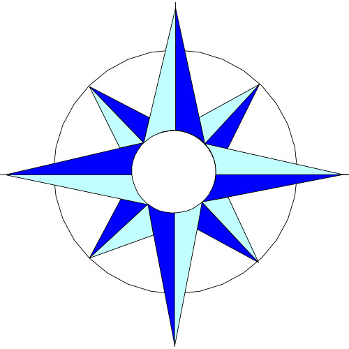 Compass Rose Coloring Page - Clipart library