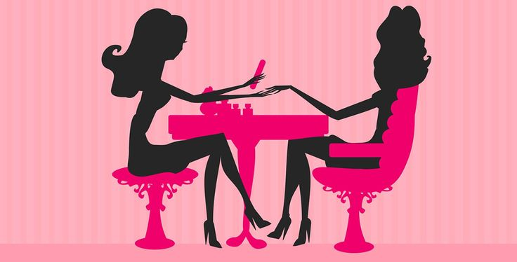 Completely Polished just open - Nail Salon Clip Art
