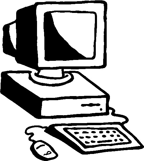 Computer Clipart Black And White-hdclipartall.com-Clip Art490