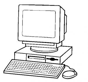 Computer black and white computer clipart black and white free clip art  images 2
