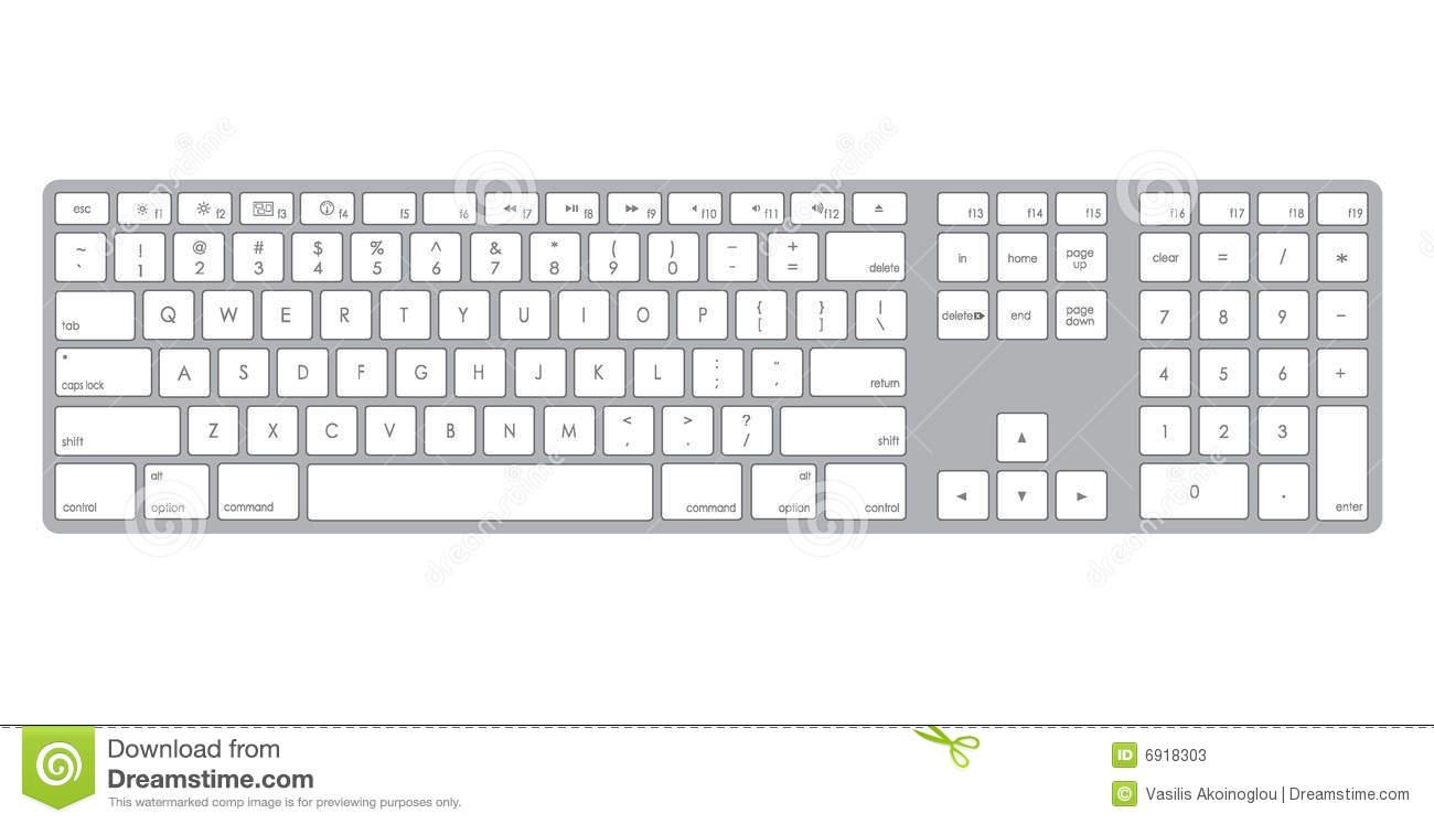 Computer Keyboard Clipart Black And White Computer Keybo