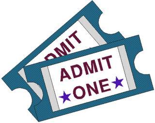 Concert ticket clipart