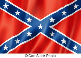 ... Confederate flag, three dimensional render, satin texture