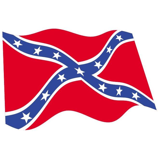 Confederate Flag Vector .