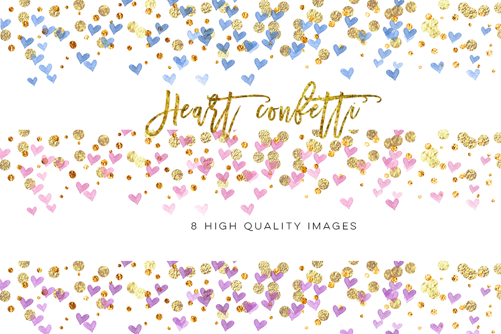 Rainbow heart Confetti Clipart, confetti heart clip art, Gold Confetti Clip  Art, Gold Confetti Overlay, heart love Gold Confetti Borders by My Lovely  Sister ClipartLook.com