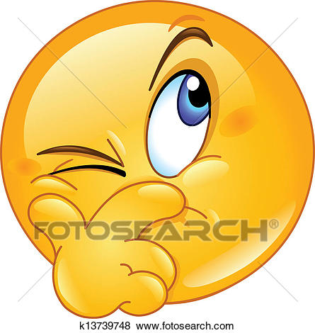 Clip Art - Suspecting emoticon. Fotosearch - Search Clipart, Illustration  Posters, Drawings,