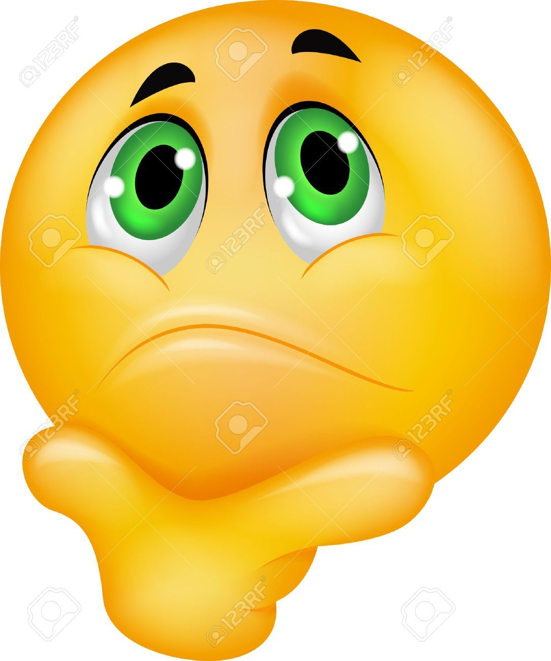 Emoticon Smiley Thinking Roya - Confused Emoticon