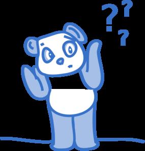 Confused Panda Clip Art At Clker Com Vector Clip Art Online Royalty