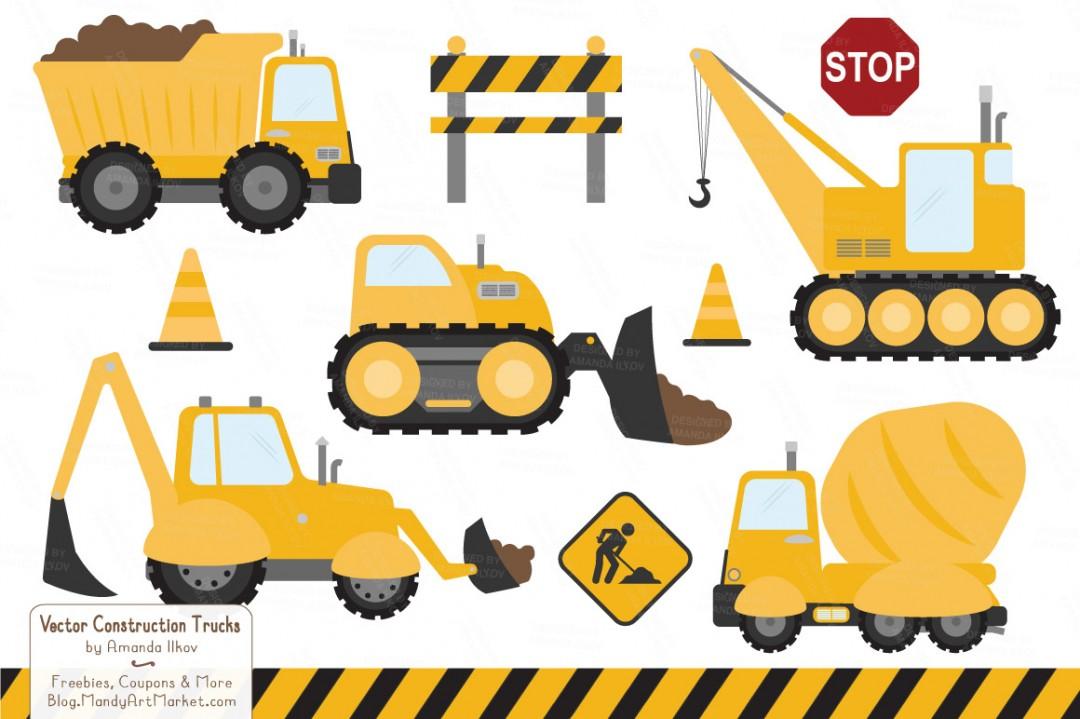 Construction equipment clipart .