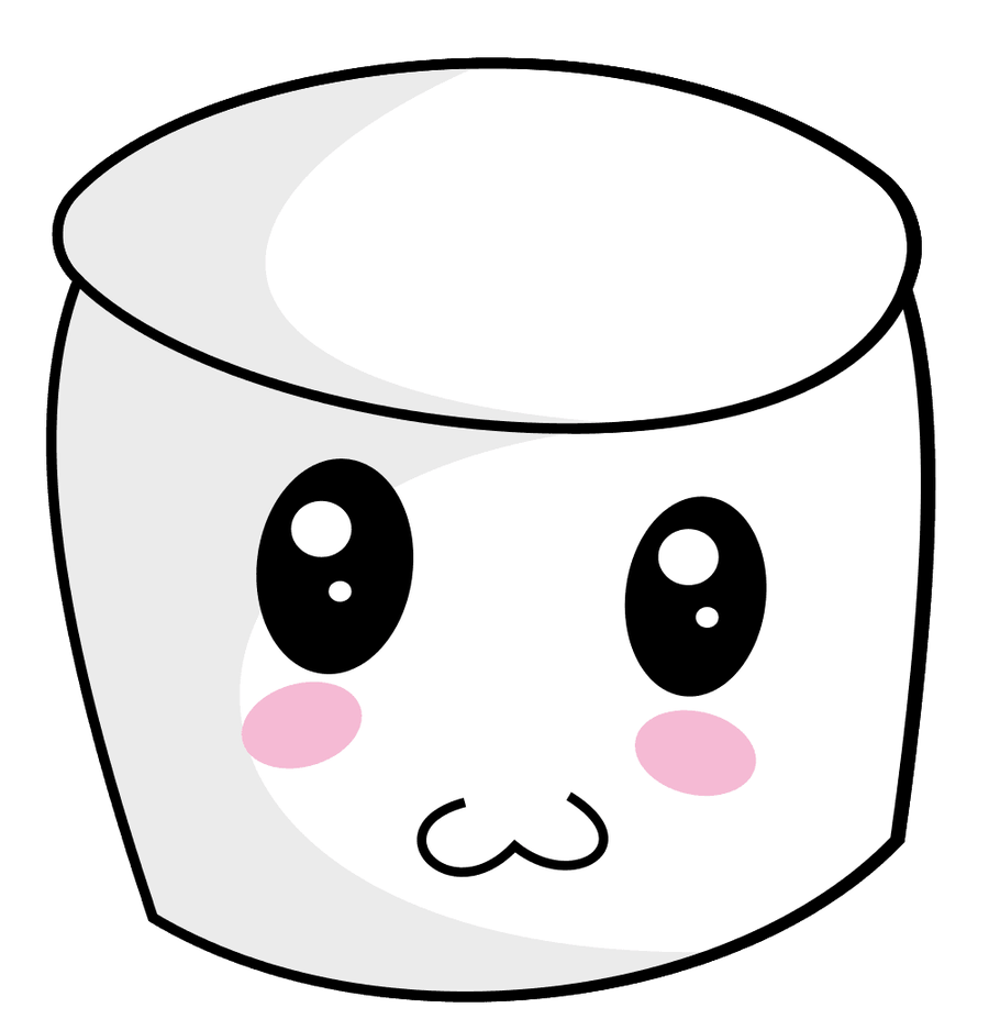 Container clipart bucket container cute face marshmallow