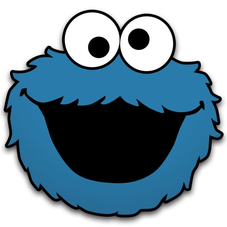 Cookie Monster Clip Art Print - Cookie Monster Clipart