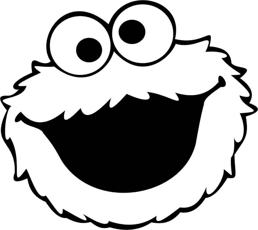 Cookie Monster Face - Cookie Monster Clipart