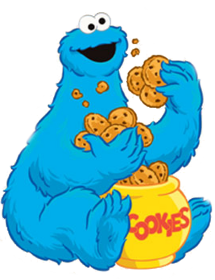 Lovely Cartoon Cookie Monster Cookie Monster Eating Cookies