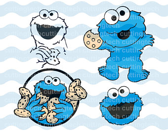Sesame street Cookie Monster  - Cookie Monster Clipart