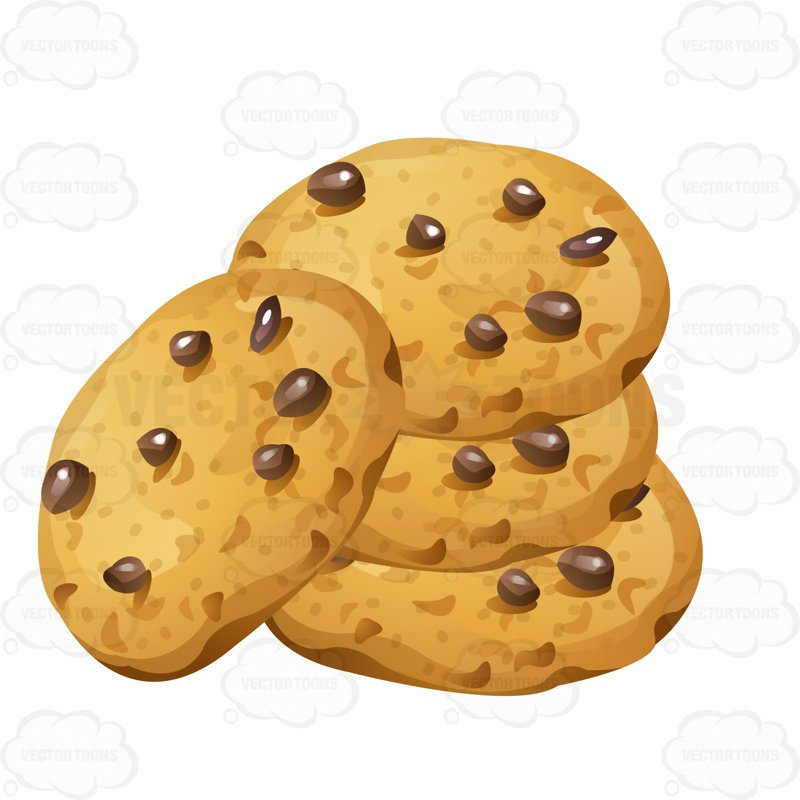 Chocolate Chip Cookies Clipart Stack Of Chocolate Chip Cookies Cartoon  Clipart Vector Toons Free Coloring Pages