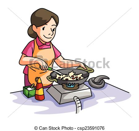 House Wife cooking - csp23591076