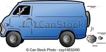 ... Cool Van - Cool Beat-up Blue Van