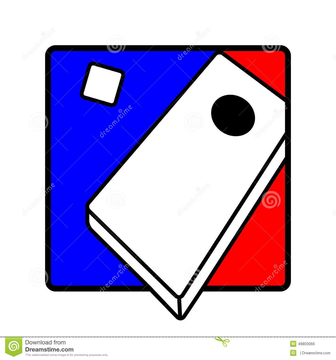 Corn Hole Clip Art. Corn hole icon symbol
