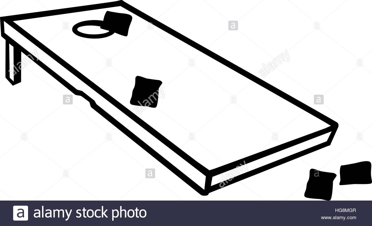 Cornhole game with bags - Corn Hole Clipart