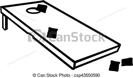 Cornhole game with bags - csp - Corn Hole Clipart