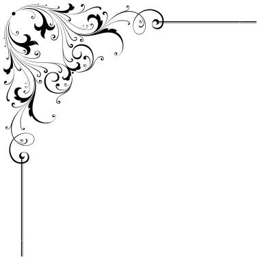 corner scroll clip art