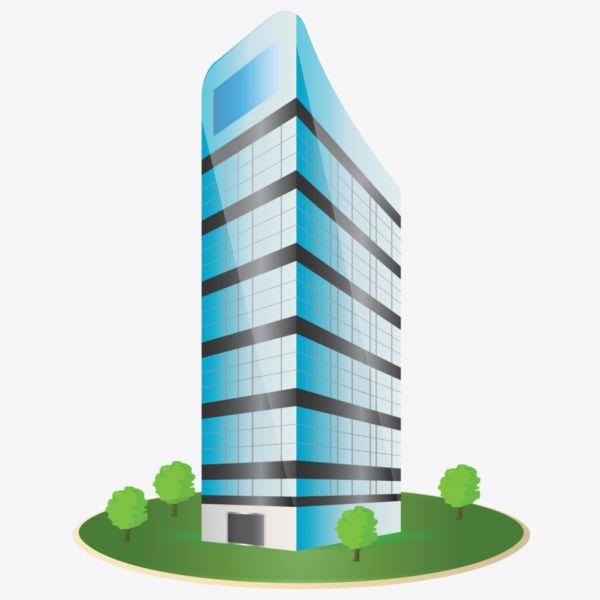 Corporate Building Clipart