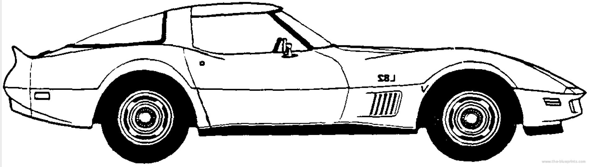 1980 Corvette Clipart #1
