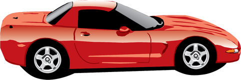 A Chevrolette Corvette Ilustration Stock Illustration