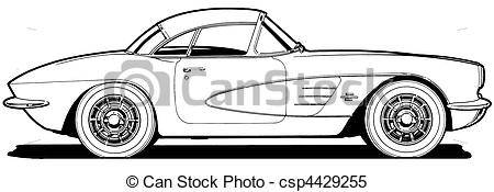 Corvette Drawings Clipart #1 - Corvette Clipart