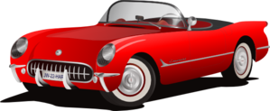 Red Corvette Convertible Clip - Corvette Clipart