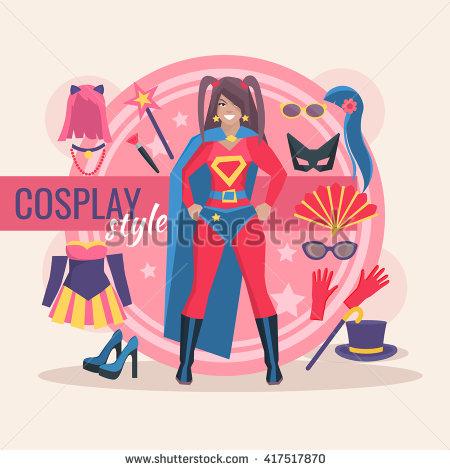 Superhero cosplay character p - Cosplay Clipart