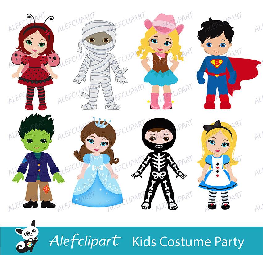 costume kids Clip art.