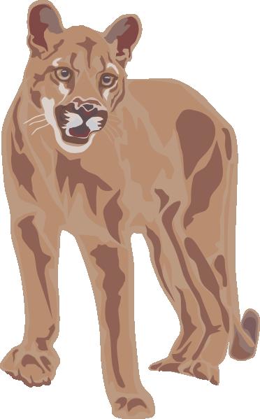 Cougar clip art image clipart image