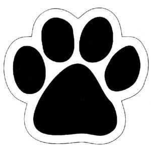 Cougar Paw Print Clip Art ... Dog paw print stamps dog .