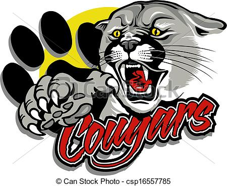 ... cougar with claw