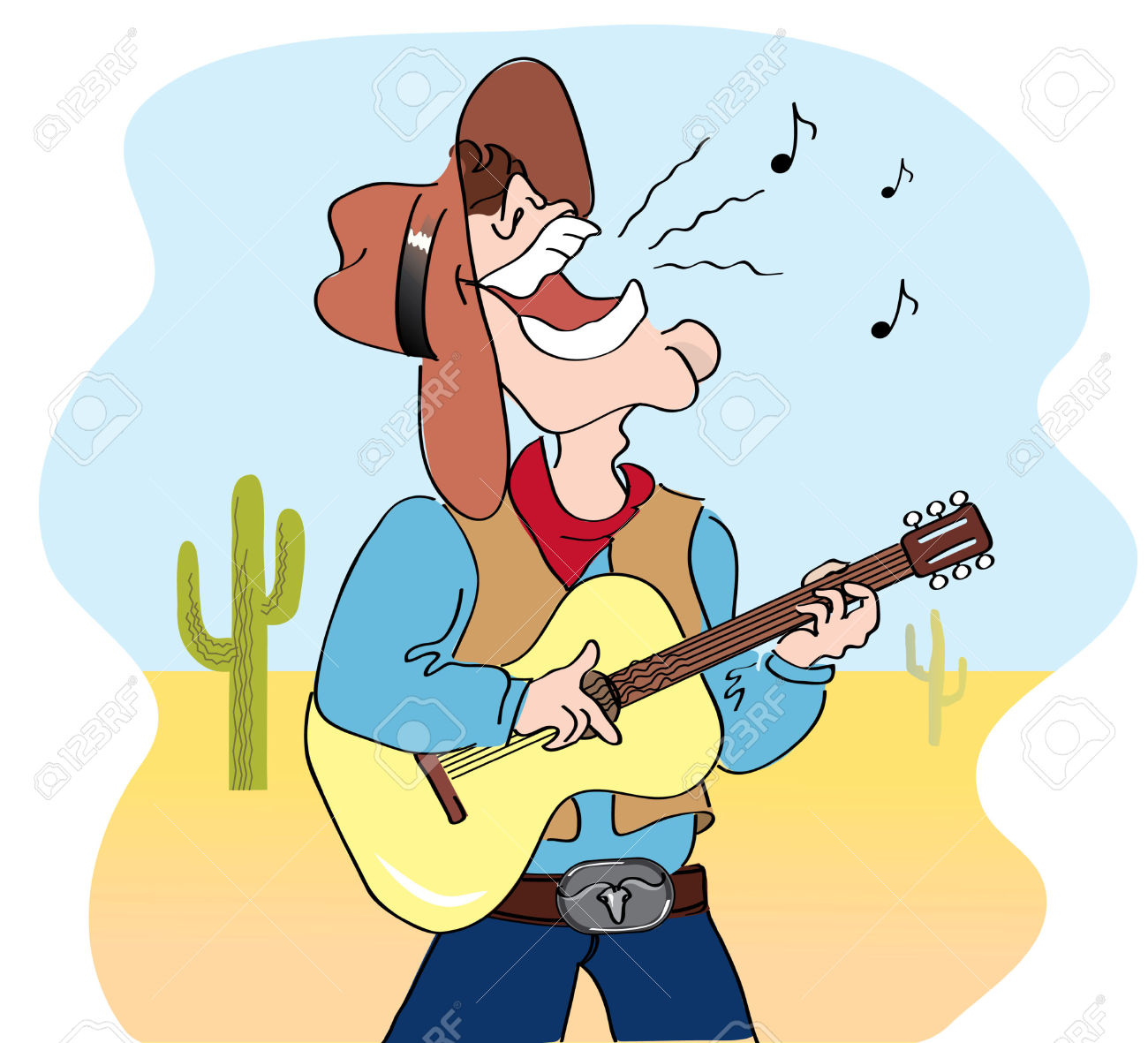 Country Music Clipart #23875
