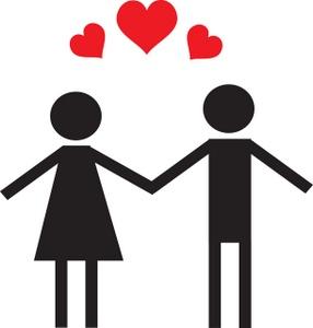 Couple in love clip art free .