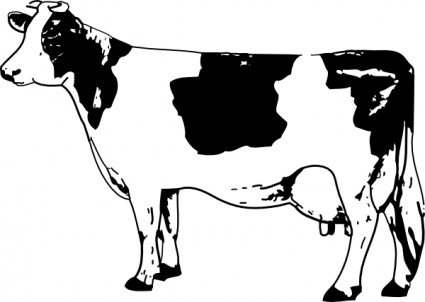 Cow clip art Free vector in Open office drawing svg