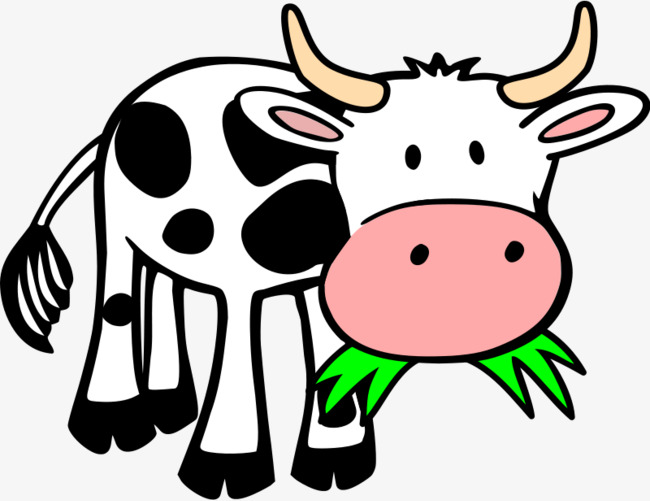 cartoon cow, Cartoon Clipart, Cow Clipart, Cartoon PNG Image and Clipart
