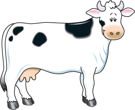 Cow clip art for kids free clipart image