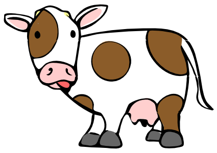 Cow clipart. Available formats to download: