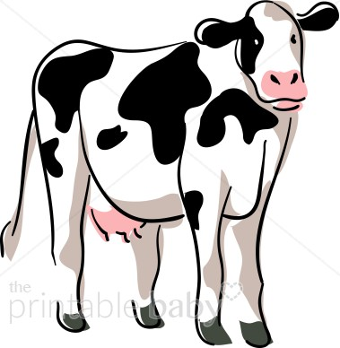 Stylized Cow Clipart