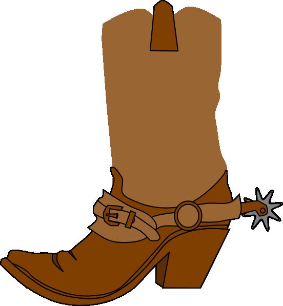 Cowboy Boot Clip Art At Clker Com Vector Clip Art Online Royalty