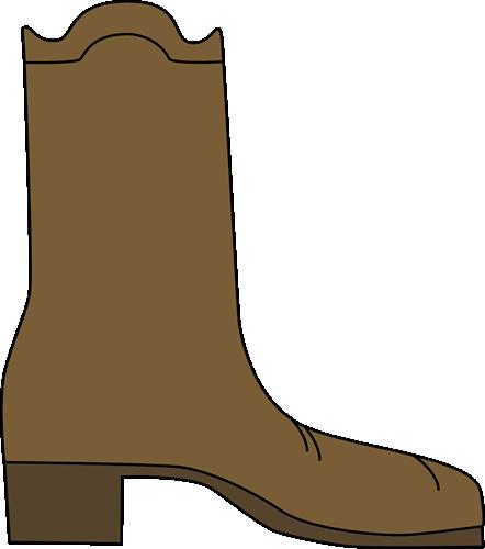 Cowboy Boot Clip Art Image Single Brown Cowboy Boot