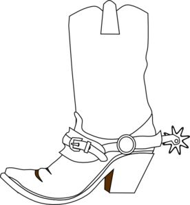 Cowboy Boot clip art - vector clip art online, royalty free .