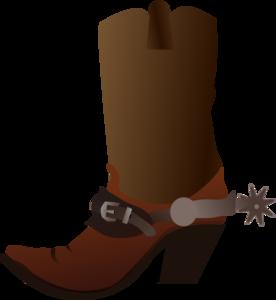 Cowboy boots clipart - .