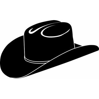 Cowboy hat silhouette clipart .