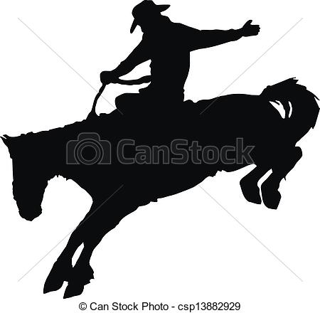 cowboy rodeo set Clipartby natbasil11/245; Cowboy riding horse at rodeo. - Vector silhouette of cowboy.