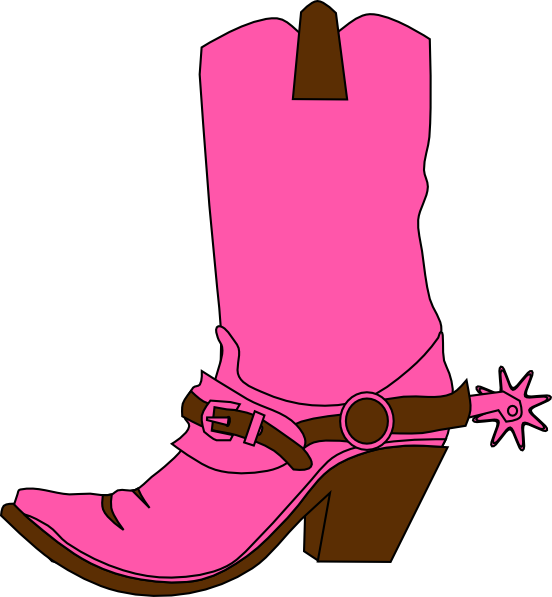 Cowgirl Hat And Boot Clip Art At Clker Com Vector Clip Art Online